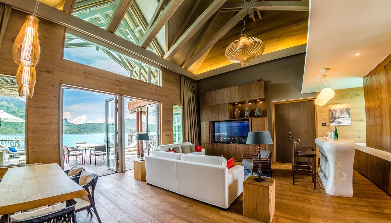 bar dans un hôtel de luxe à Bora Bora - V-korr