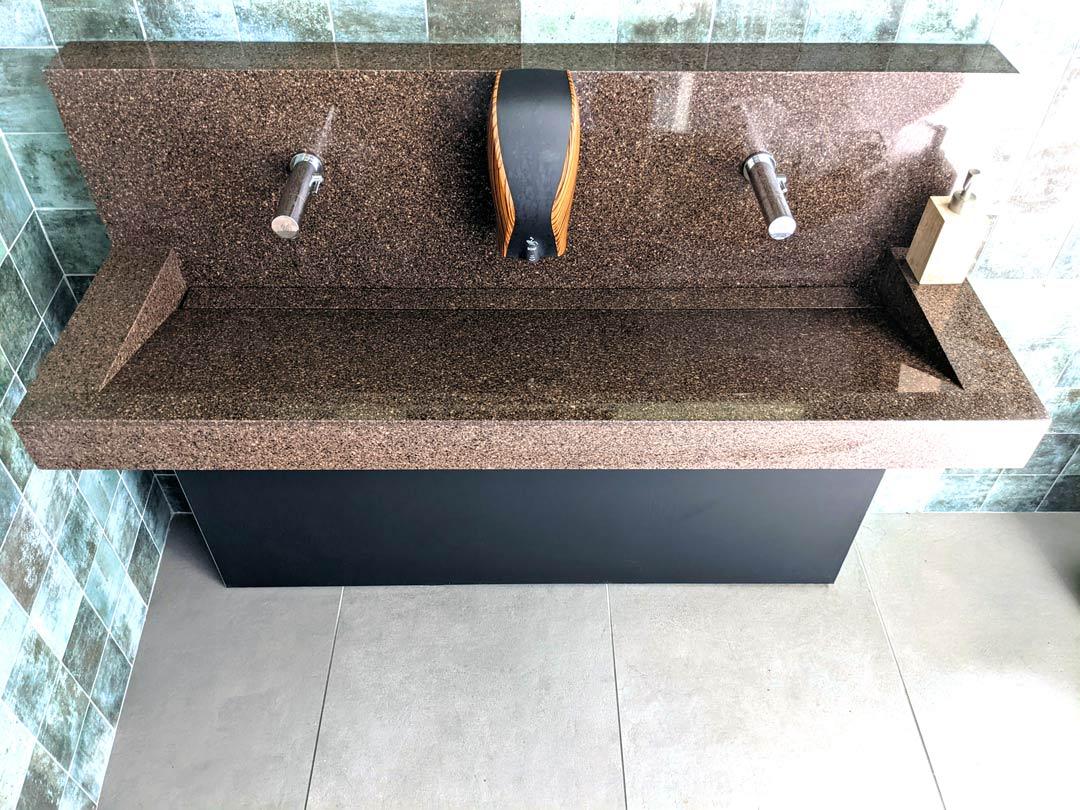 Plan vasque de sanitaires en Solid Surface